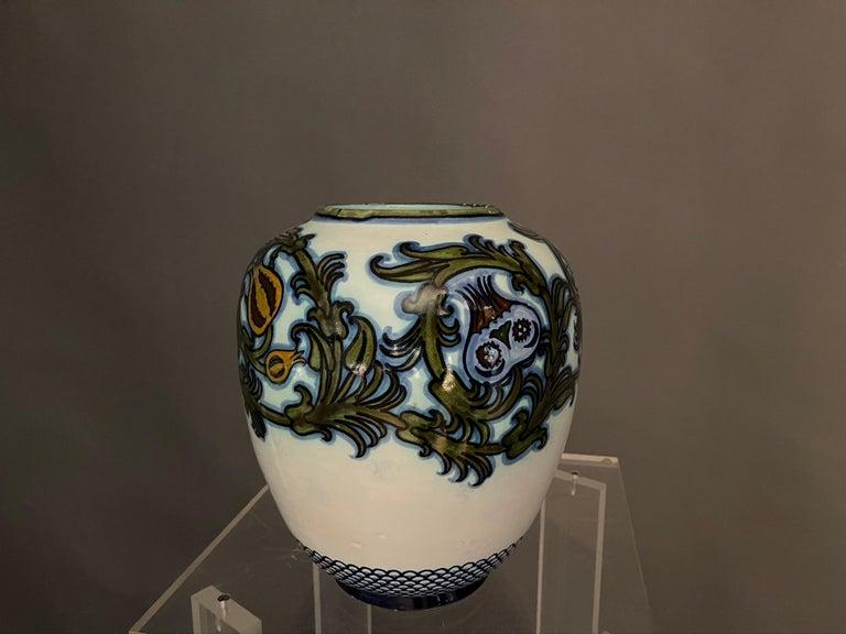 Early 20th Century Modern Pietro Melandri and Paolo Zoli Ceramic Vase  For Sale