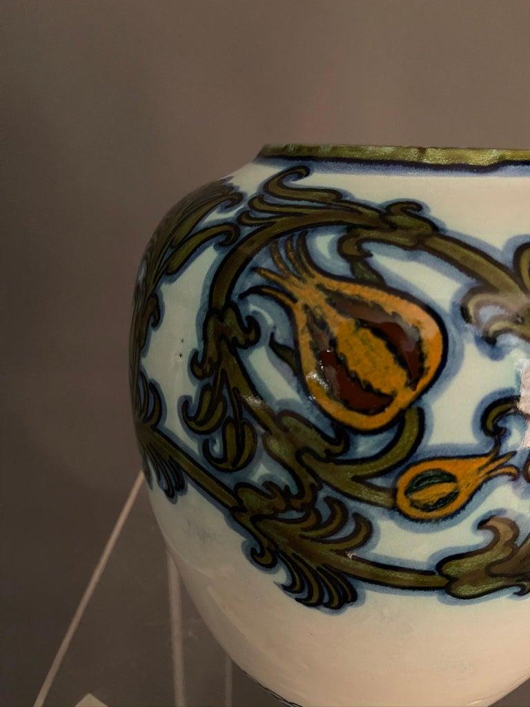 Modern Pietro Melandri and Paolo Zoli Ceramic Vase  For Sale 1