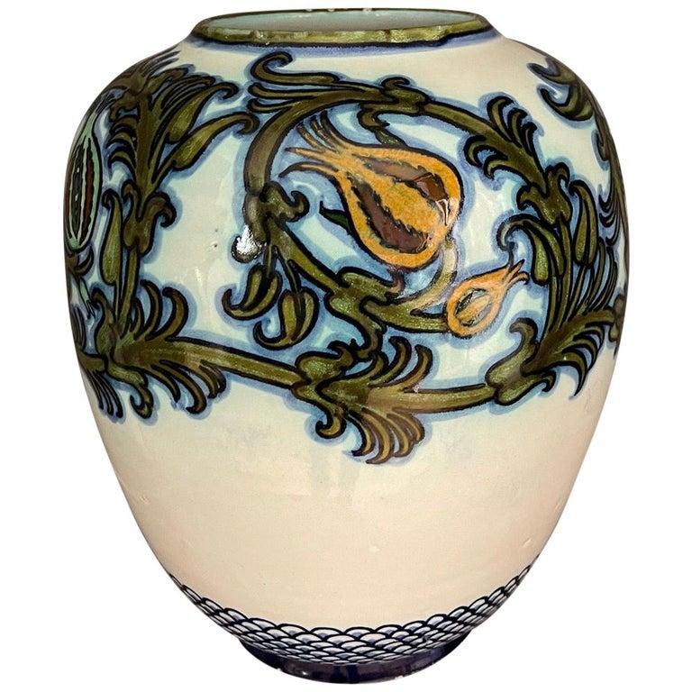 Modern Pietro Melandri and Paolo Zoli Ceramic Vase  For Sale