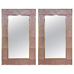 Modern Pink Murano Glass Mirrors