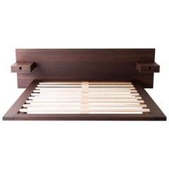 Modern Platform Bed in Walnut