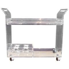 Modern Plexiglas Trolley with Drawer