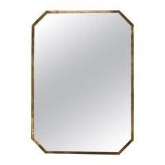Modern Polygonal Frame Wall Mirror, Italy, 1950s