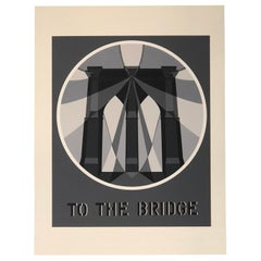 Modern Pop Art Framed Bob Indiana Serigraph the Bridge from the American Dream