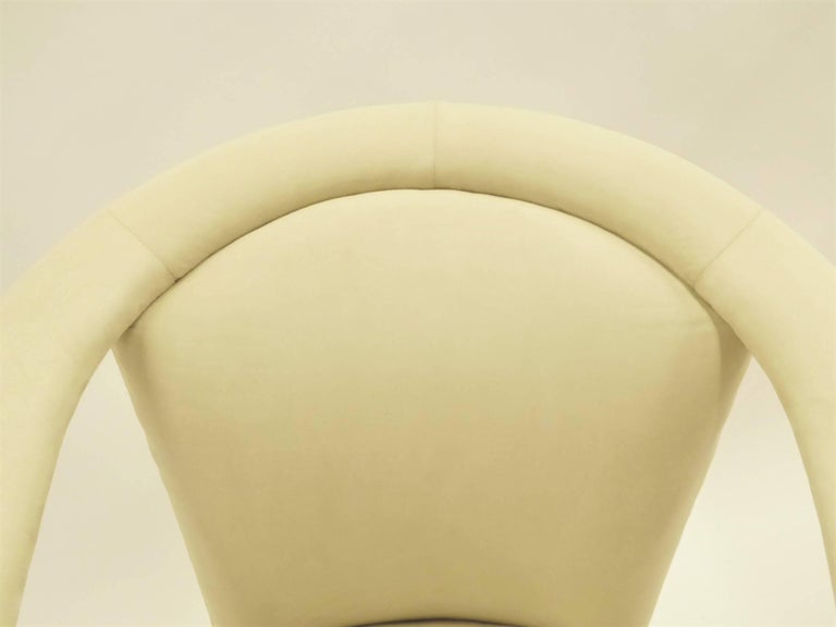 Modern Pop Lounge Chairs by Carsons in Ultrasuede For Sale 5