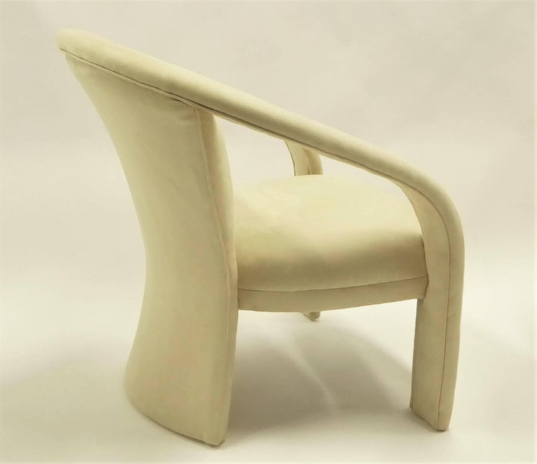 Upholstery Modern Pop Lounge Chairs by Carsons in Ultrasuede For Sale