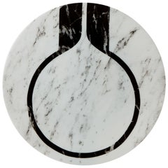 Modern Porcelain Bread Plate in Black and White by Etienne Bardelli