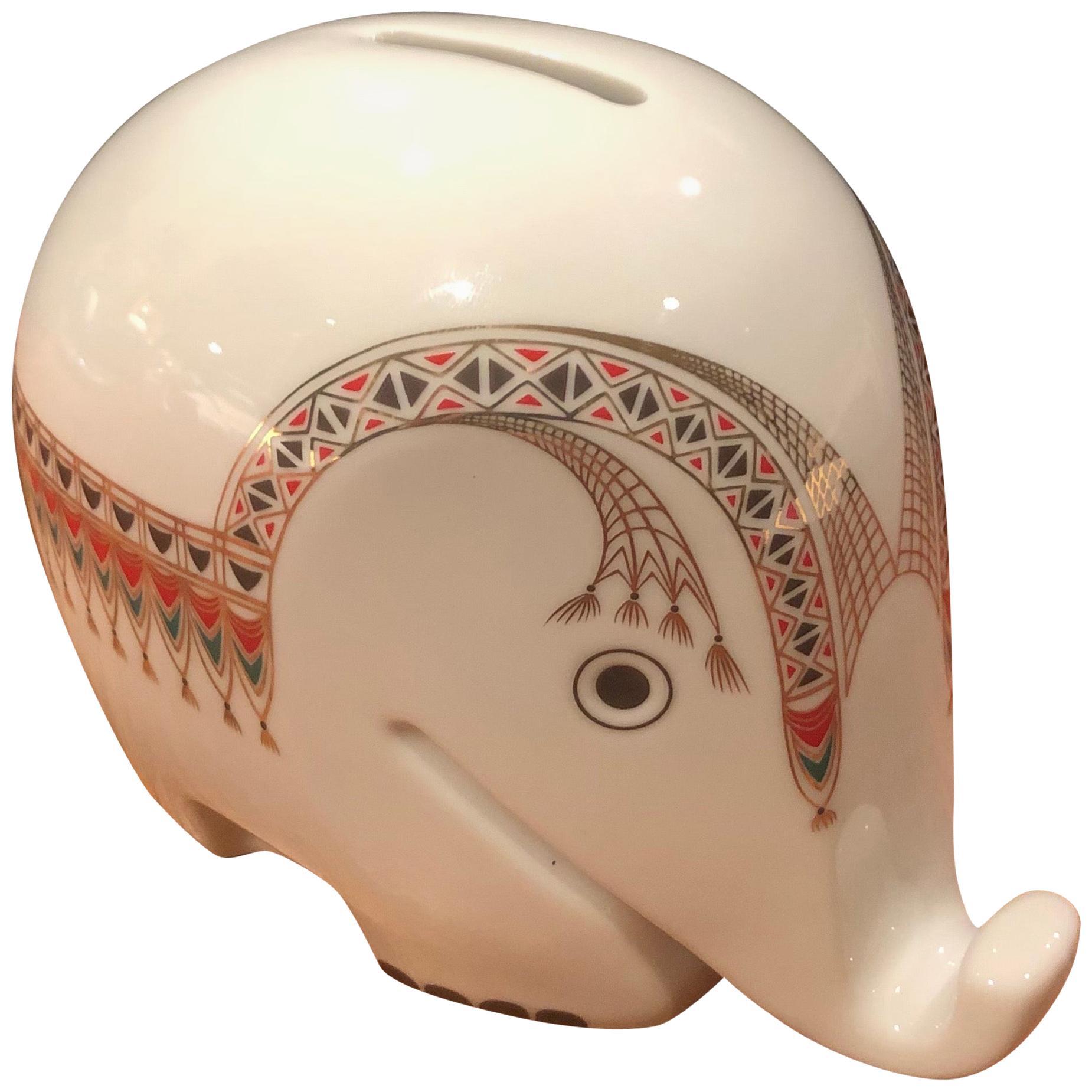 "Modern Porcelain Piggy Bank ""Drumbo"" by Luigi Colani for Hochst"