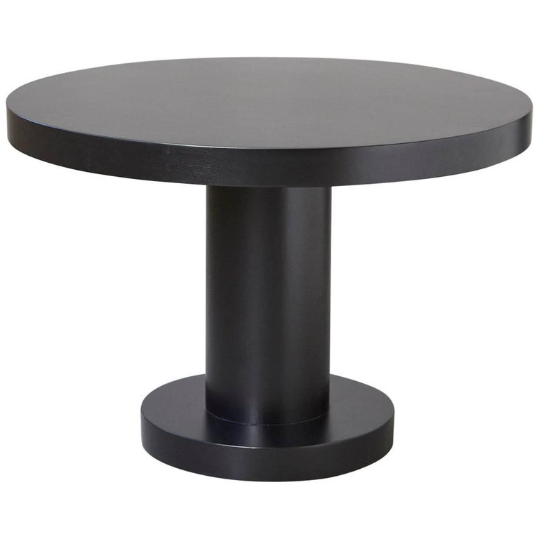 Modern Puristic Oak Center Table in New Black Finish, 1960s