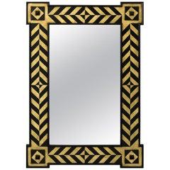 Modern Rectangular Chevron Design Mirror