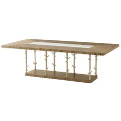 Modern Rectangular Top Dining Table