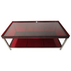 Modern Red Acrylic Coffee Table