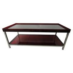 Modern Red Acrylic Coffee Table
