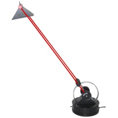 Modern Red and Black Plastic Vintage Desk Lamp by Linke Plewa Germany 1990s