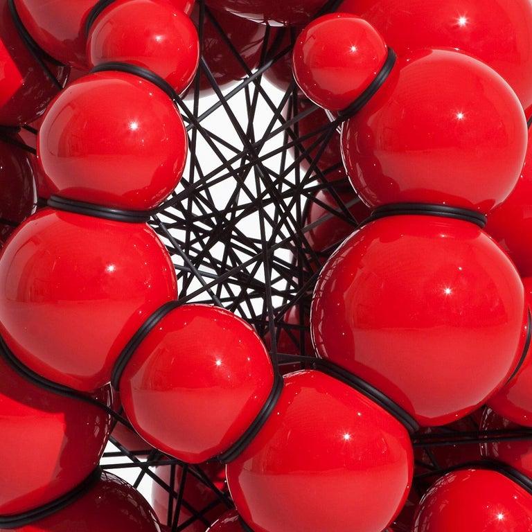 Danish Modern Red Ceramic Sculpture by Steen Ipsen For Sale
