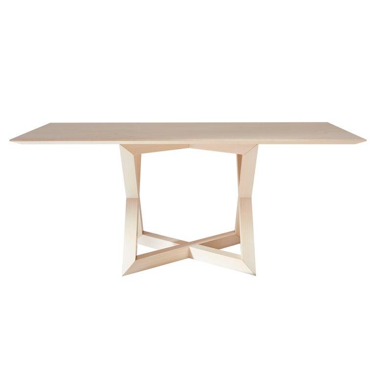 "Modern ""RK"" Handmade Table Wood For Sale"