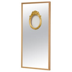 Modern Ron Gilad for Dilmos Limited Edition Rectangular Mirror Golden Leaf