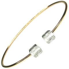GEMOLITHOS Modern Rose Gold and Diamond Bracelet