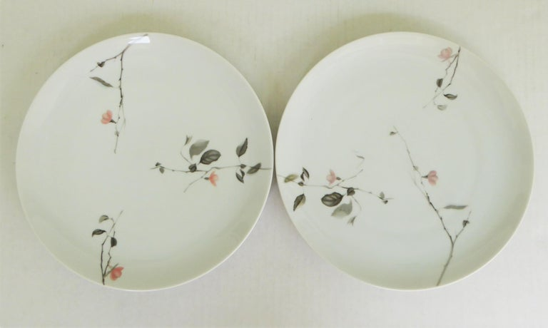 Modern Rosenthal Quince Pattern Raymond Loewy 14 Dinner Plates, Germany, 1956 For Sale 4