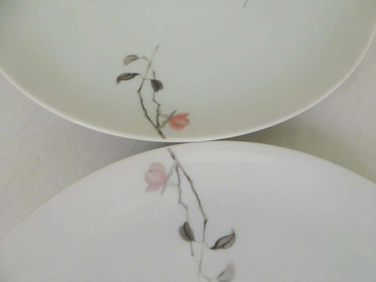 Modern Rosenthal Quince Pattern Raymond Loewy 14 Dinner Plates, Germany, 1956 For Sale 1