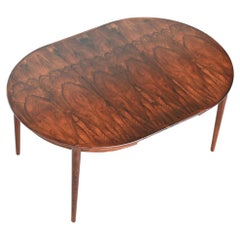 Modern Rosewood Oval Dining Table MSE Mobler Torring, Denmark, 1960