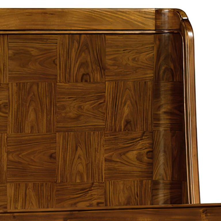 Contemporary Modern Rosewood Queen Size Bed For Sale