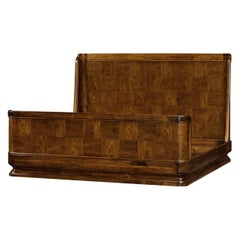 Modern Rosewood Queen Size Bed