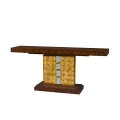 Modern Rosewood Veneered Console Table