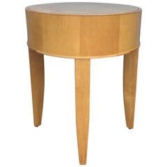 Brayton Modern Round Wood Occasional Drinks Side Table