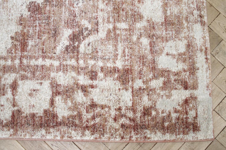 North American Modern Rug in Rust Natural and Cream Tones For Sale