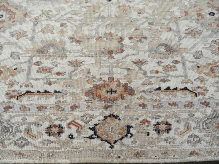 Modern Rug in Style of Oushak Hand Knotted Contemporary Carpet 4