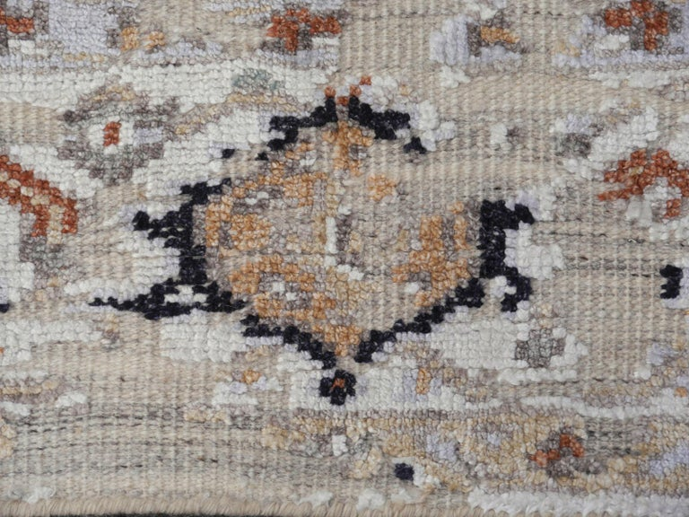 Modern Rug in Style of Oushak Hand Knotted Contemporary Carpet 6