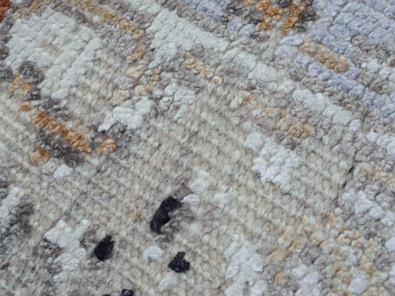 Hand-Woven Modern Rug in Style of Oushak Hand Knotted Contemporary Carpet