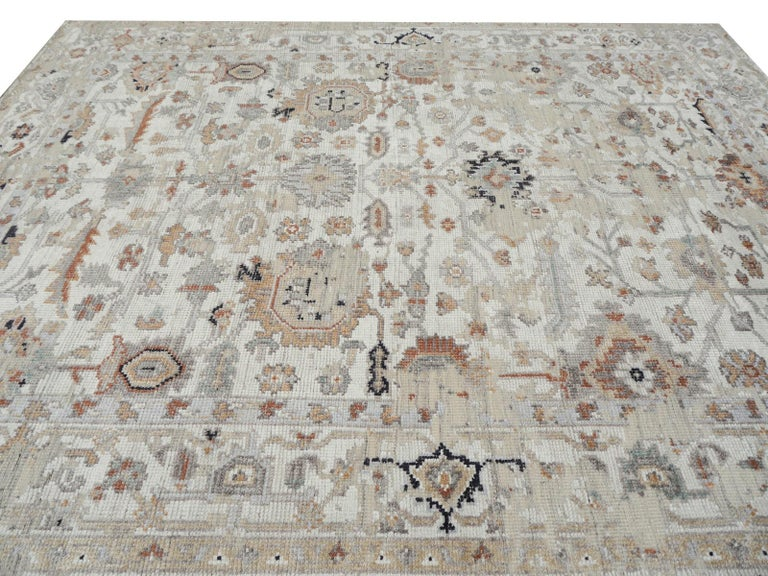 Modern Rug in Style of Oushak Hand Knotted Contemporary Carpet 2