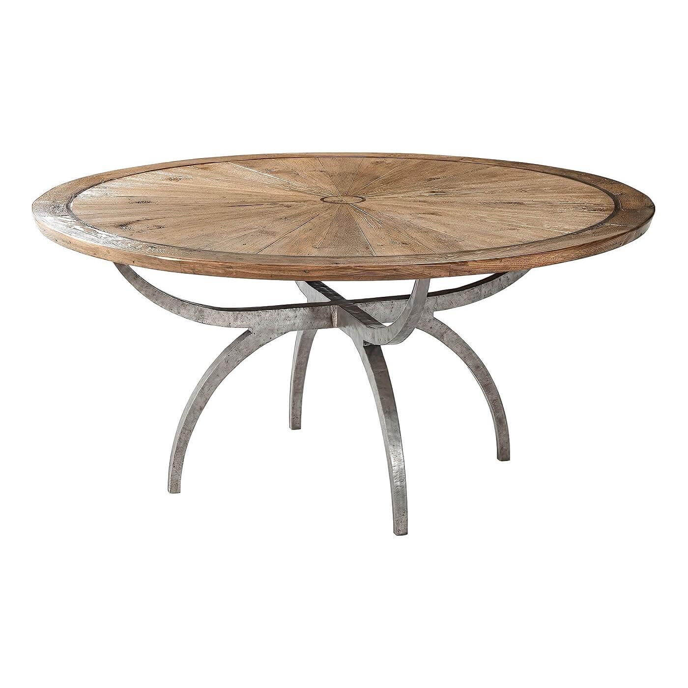 Modern Rustic Round Dining Table