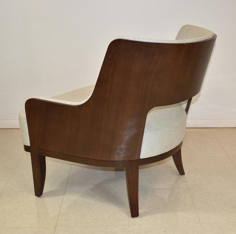 North American Modern Salon Lounge Chair Open Back H B F Barbara Barry For Sale