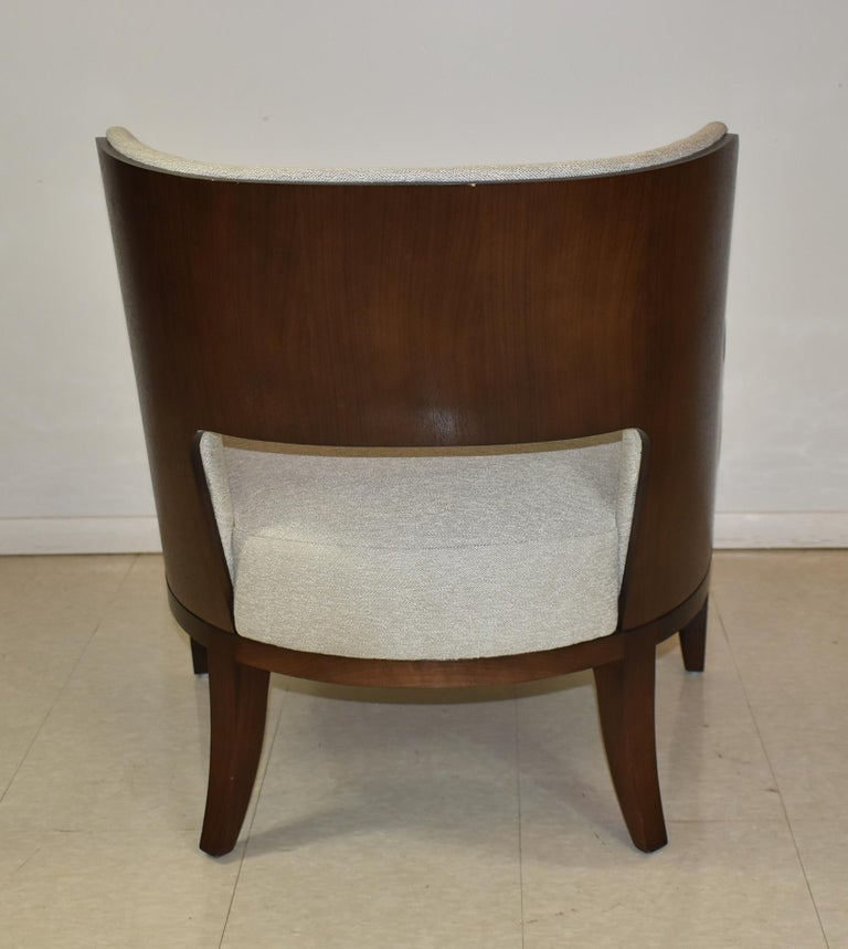Modern Salon Lounge Chair Open Back H B F Barbara Barry In Good Condition For Sale In Toledo, OH