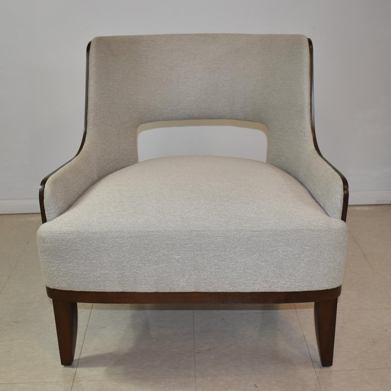 20th Century Modern Salon Lounge Chair Open Back H B F Barbara Barry For Sale