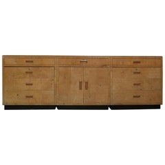 Modern Scene 2 by Henredon Burled Elm and Macassar Ebony Patchwork Credenza