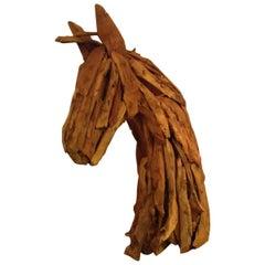 Modern Sculptural Driftwood Horse Head