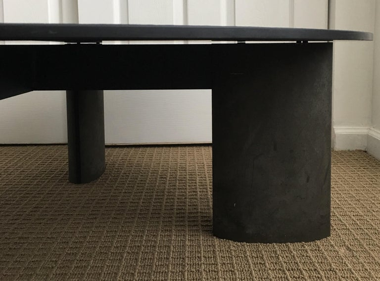 Modern Sculptural Round Coffee Table by Piotr Sierakowski for Koch and Lowy In Good Condition For Sale In Lambertville, NJ