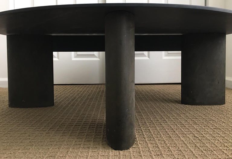 Late 20th Century Modern Sculptural Round Coffee Table by Piotr Sierakowski for Koch and Lowy For Sale
