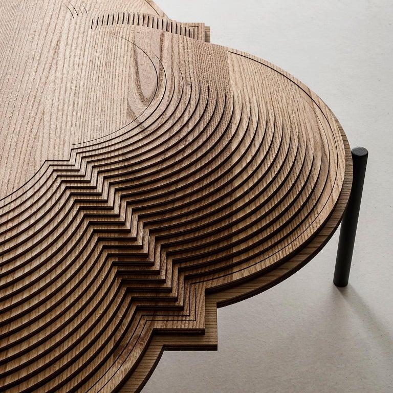 Italian Modern Sculptural Wood Coffee Table