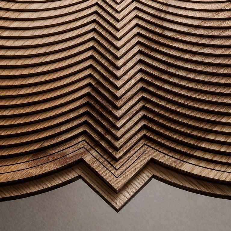 Woodwork Modern Sculptural Wood Coffee Table