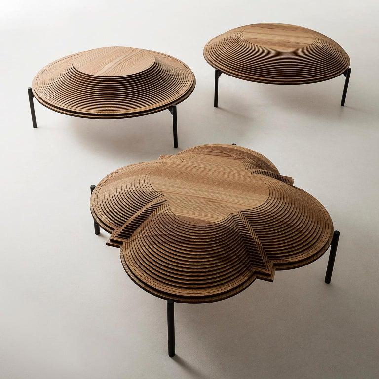 Modern Sculptural Wood Coffee Table