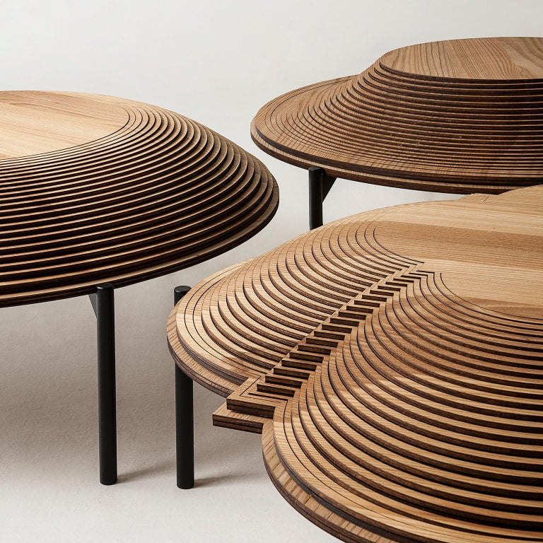 Contemporary Modern Sculptural Wood Coffee Table