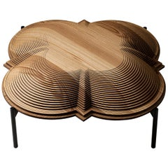 "Modern Sculptural Wood Coffee Table ""Dome 1"" by Sebastiano Bottos, Italy"