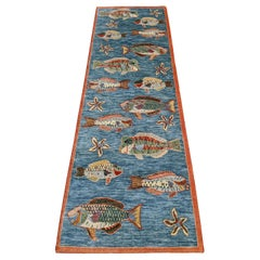 Modern Seascape Collection with Fish, Made in India, Scatter Size