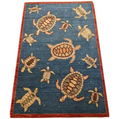 Modern Seascape Collection with Turtles, Made in India, Scatter Size