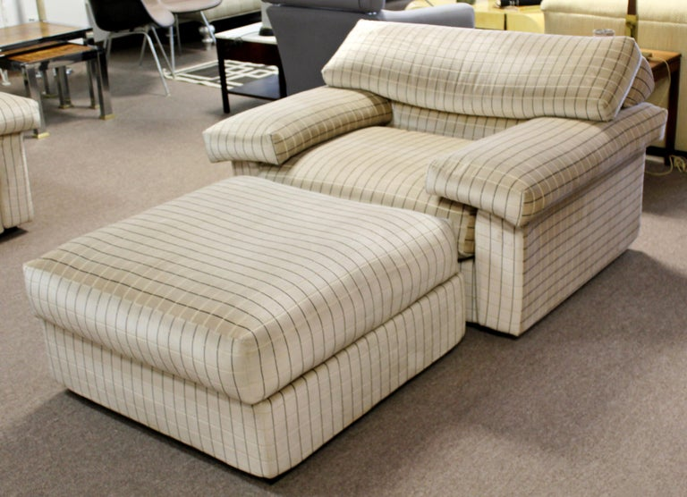 Modern Sectional Chair Ottoman Set Tobia Scarpa B&B Italia 1970s For Sale 6
